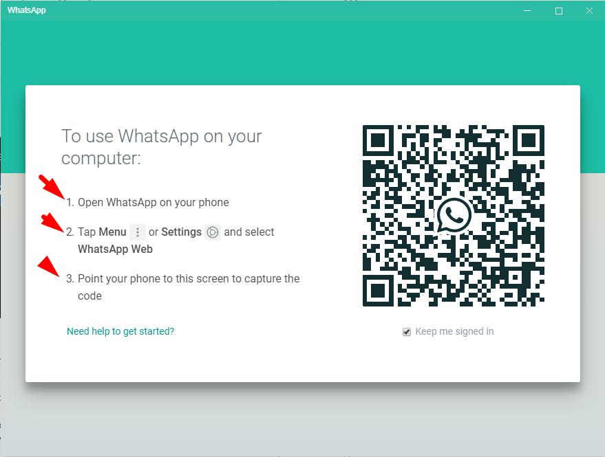 whatsapp startup window