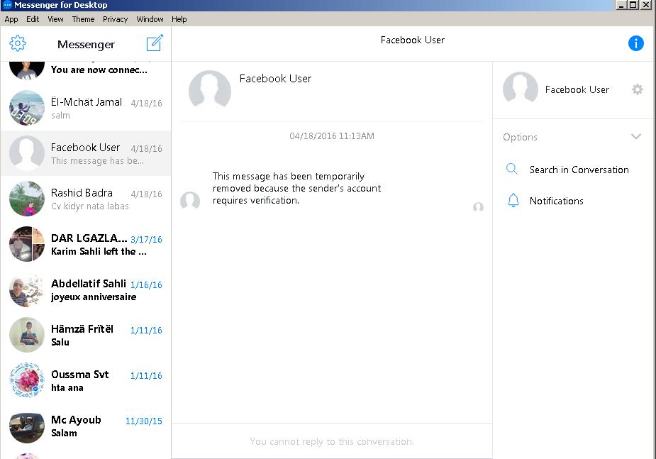 screenshot 1 Messenger for Desktop
