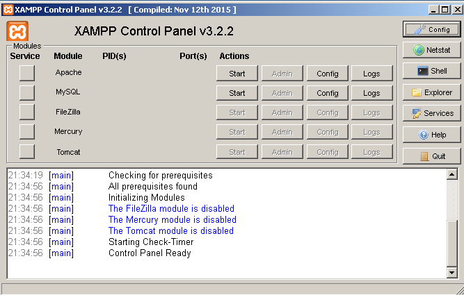screenshot 1 XAMPP