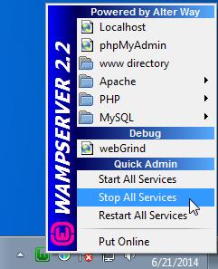 screenshot 1 WampServer