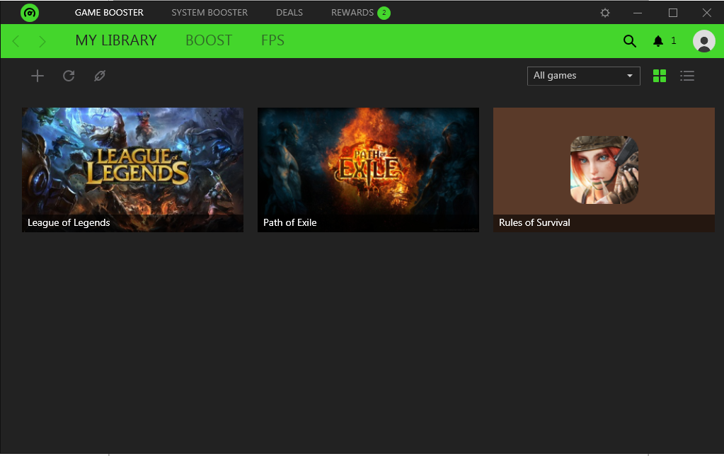 screenshot 1 Razer Cortex