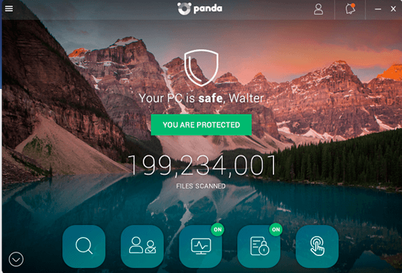 screenshot 1 Panda Dome Free Antivirus