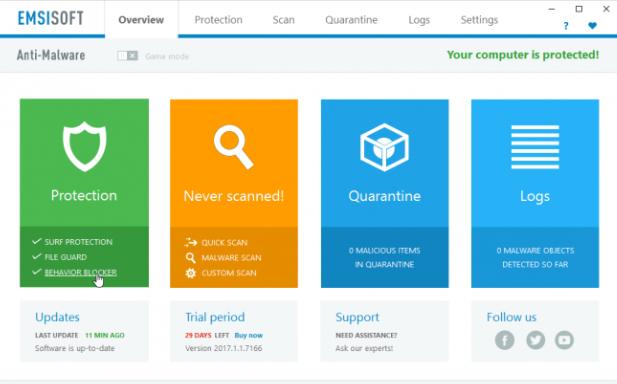 screenshot 1 Emsisoft Anti-Malware