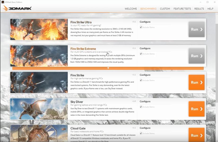 screenshot 1 3DMark Basic Edition