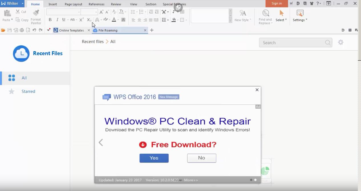 screenshot 1 WPS Office Free