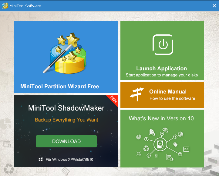 screenshot 1 MiniTool Partition Wizard Free