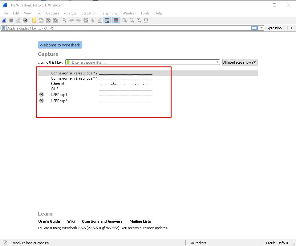 screenshot 1 Wireshark