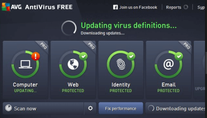 screenshot 1 AVG Virus Definitions