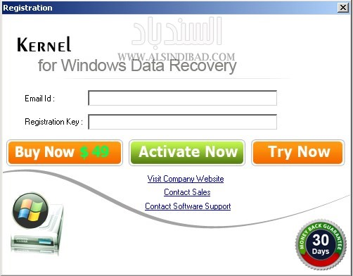 screenshot 1 Kernel FAT NTFS   Windows Data Recovery