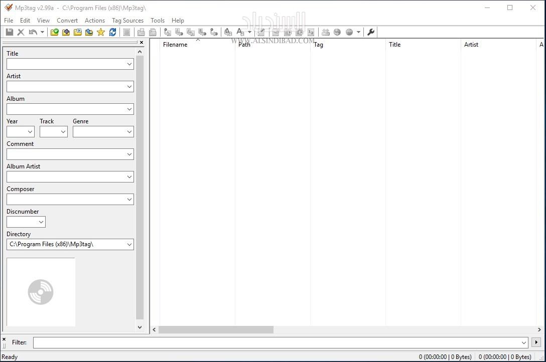 واجهة البرنامج  MP3 Tag Editor