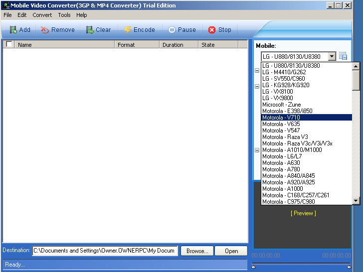 screenshot 1 Mobile Video(3GP & MP4) Converter