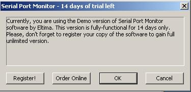 screenshot 1 Serial Com Port Monitor