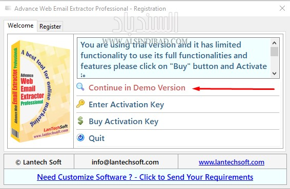 النسخة التجريبية :Advanced Web Email Extractor