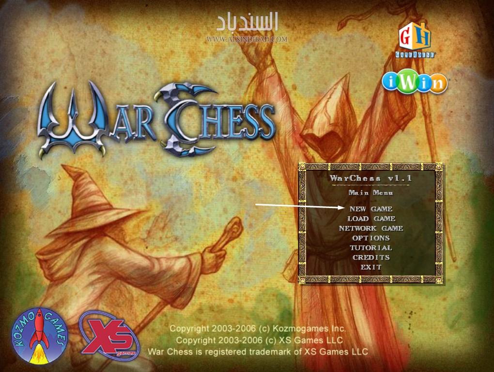 تشغيل اللعبة :War Chess