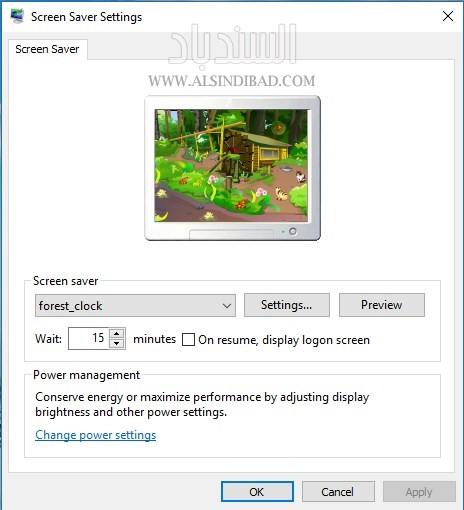 screenshot 1 Forest Clock ScreenSaver