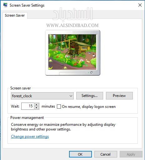 Forest Clock ScreenSaver