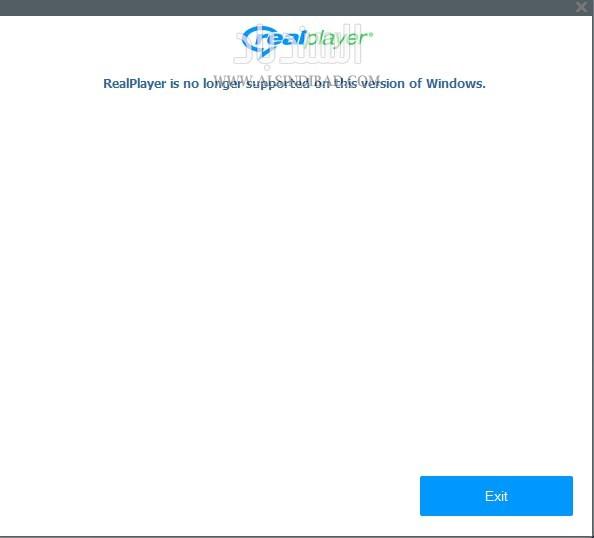الريل بلير لا يعمل على ويندوز XP
