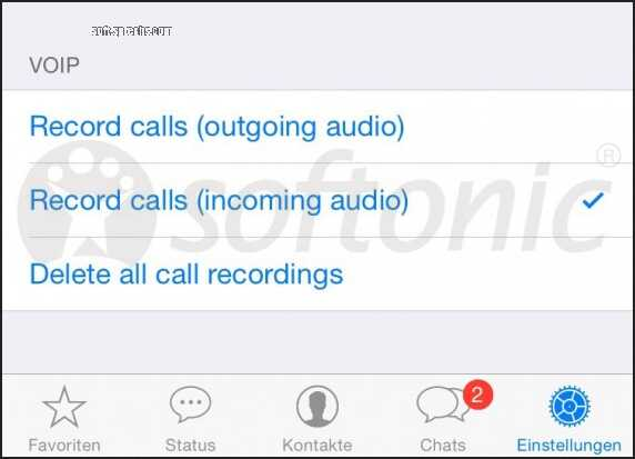 WhatsApp adding voice calling and recording