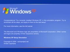 windows xp setup simulator screenshot 1